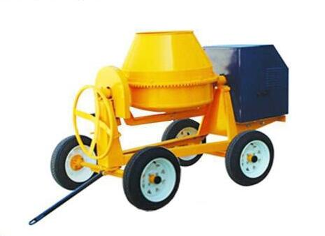 Smaller model diesel concrete mobile mixer with wheels