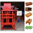 eletric model interlocking clay brick machine